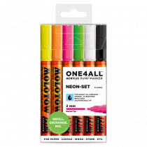 MOLOTOW ONE4ALL™ 127HS 2mm 6x - Neon-Set - Clearbox