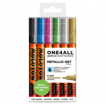 MOLOTOW ONE4ALL™ 127HS 2mm 6x - Metallic-Set - Clearbox