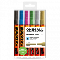 MOLOTOW ONE4ALL™ 227HS 4mm 6x - Metallic-Set - Clearbox