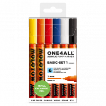 MOLOTOW ONE4ALL™ 127HS 2mm 6x - Basic-Set 1 - Clearbox