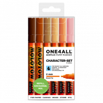 MOLOTOW ONE4ALL™ 127HS 2mm 6x - Character-Set - Clearbox