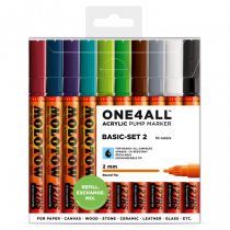 MOLOTOW ONE4ALL™ 127HS 2mm 10x - Basic-Set 2 - Clearbox
