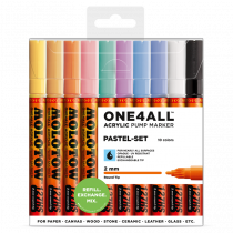 MOLOTOW ONE4ALL™ 127HS 2mm 10x - Pastel-Set - Clearbox