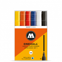 MOLOTOW ONE4ALL™ 227HS 4mm 6x - Basic-Set 1 - Clearbox