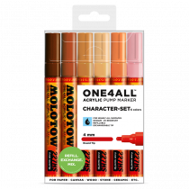 MOLOTOW ONE4ALL™ 227HS 4mm 6x - Character-Set - Clearbox
