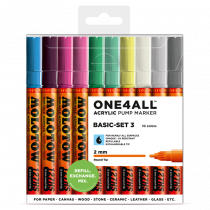 MOLOTOW ONE4ALL™ 127HS 2mm 10x - Basic-Set 3 - Clearbox