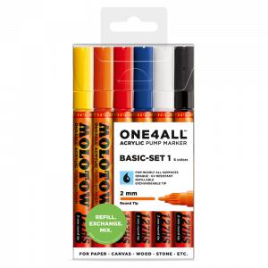 127.204 1 Each Molotow ONE4ALL Acrylic Paint Marker Burgundy 2mm